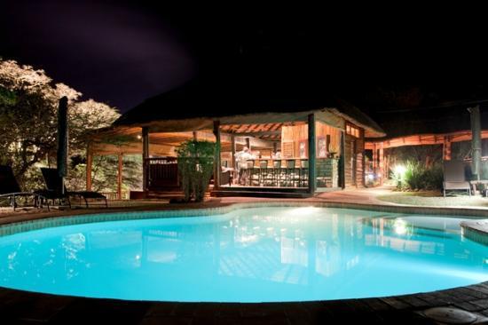 Ubizane Wildlife Reserve: Pool and Bar Area at Zululand Tree Lodge