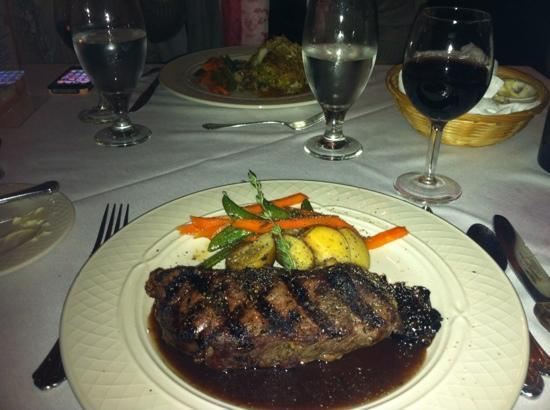 Dinner at the Chesterfield Inn - Buffalo Steak