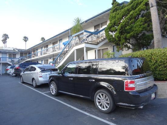 La Jolla Beach Travelodge: Unser Zimmer im ersten Stock