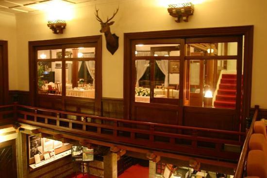 Nikko Kanaya Hotel: 談話室からメインダイニングを見る