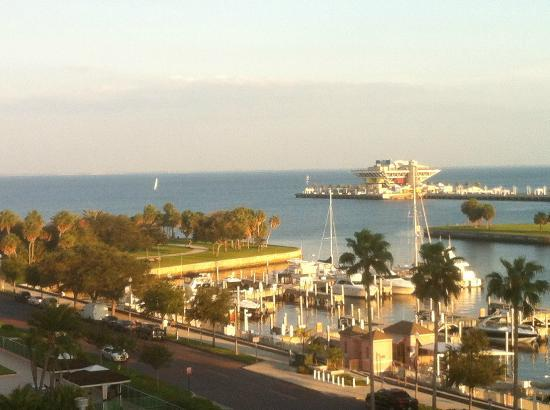 The Vinoy Renaissance St. Petersburg Resort & Golf Club: The view from our room overlooking the marina and the Pier