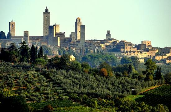 Agriturismo Poggiacolle: View of San Gimignano from Poggiacolle