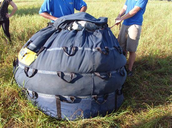 Orlando Balloon Rides: All packed up ready for home