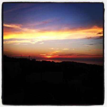 Finikia Memories: amazing sunset from the terrace