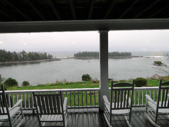 جراي هافينز إن: View from back porch. 
