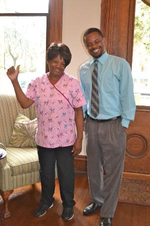 Forsyth Park Inn: Rosa and Dwayne: 2 particularly wonderful members of the staff