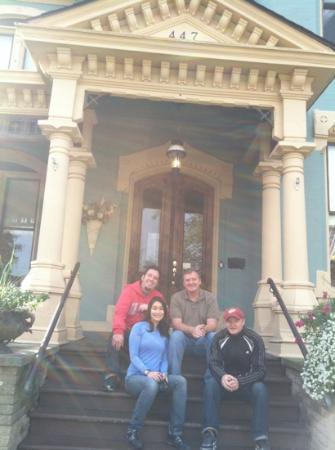Kalamazoo House Bed and Breakfast: Very happy team of glass makers from The Corning Museum of Glass.. Thanks Terry and Laurel..
