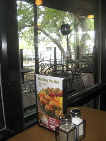 Jason's Deli: view from table