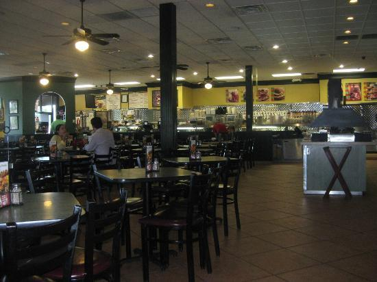 Jason's Deli: order counter and dining