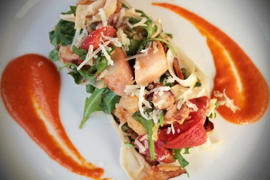 Etch Restaurant: Octopus and Shrimp Bruschetta