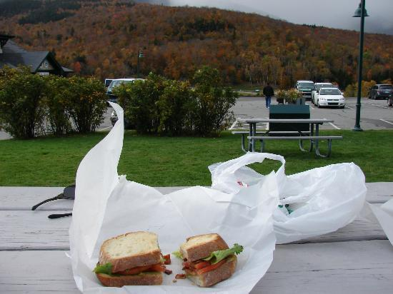 J-Town Deli Country Store : BLT overlooking Mt. Washington