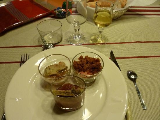 Le Poutic : Verrines locales (au foie gras)