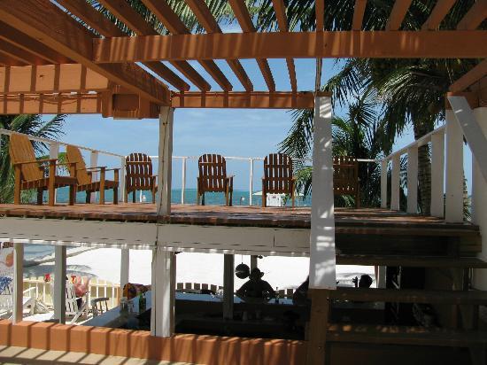Island Magic Beach Resort: another area to sit and sun tan