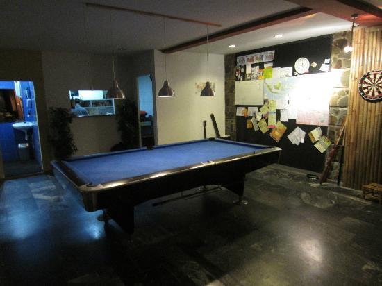 Six Degrees: pool table and the wall of fame