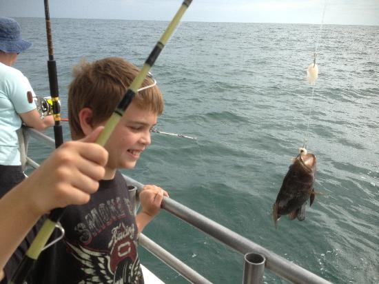 Calabash Fishing Fleet: The first fish of the morning
