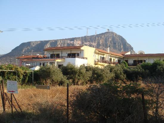 Despo Hotel: View from the main road