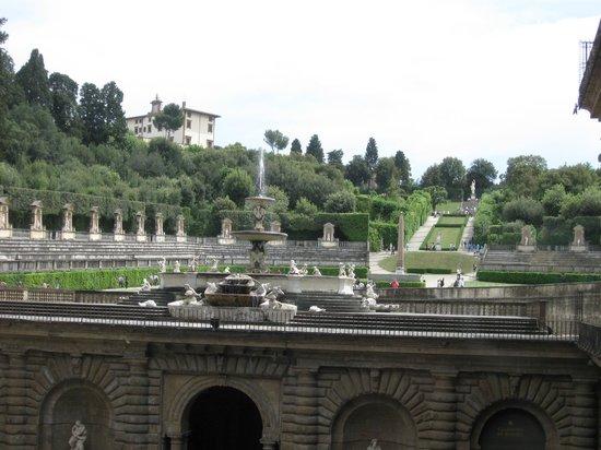 Palazzo Pitti: giardino di boboli visto dall'interno del palazzo.