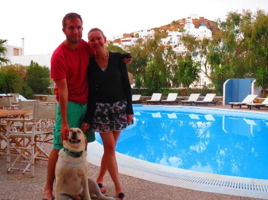 Hotel Mediterraneo: With the hotel mascot Nana