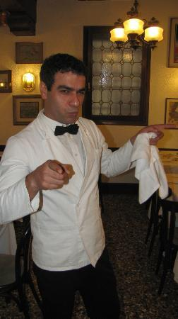 Trattoria alla Madonna : Our waiter's assistant