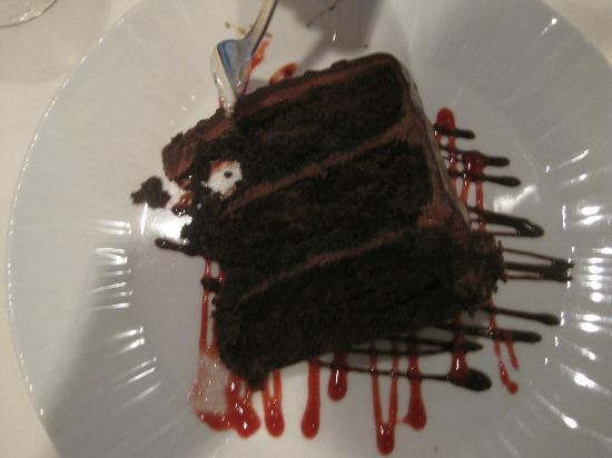 Park Avenue Grill - Skirvin Hilton : Triple layer chocolate cake-who doesn't love chocolate?