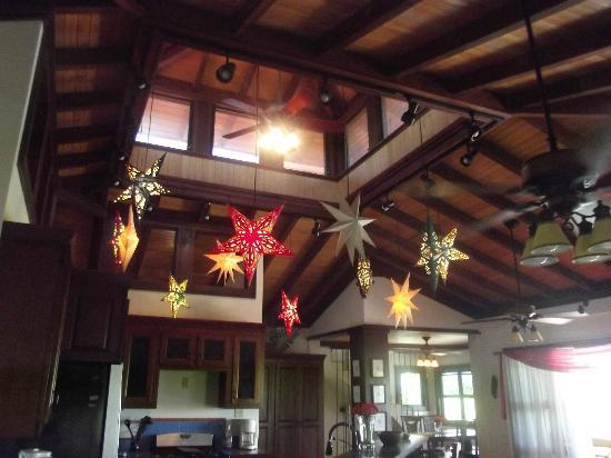 Silver Leaf Villa and Cabana: kitchen cathedral cieling