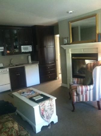 The Eagle Harbor Inn: view from living room area