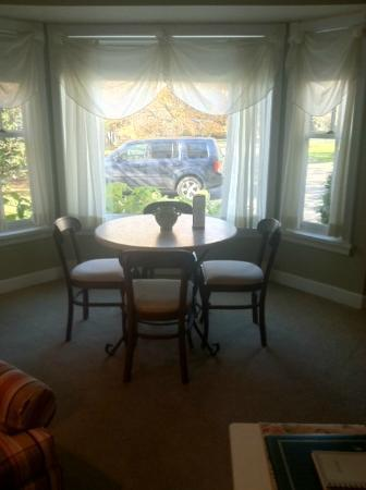 The Eagle Harbor Inn: view from kitchen area