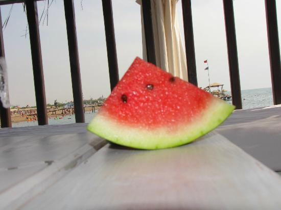 Watermelon in the VIP lounge
