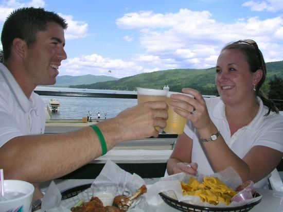 Lookout Cafe: Open air dining with the best view of Lake George