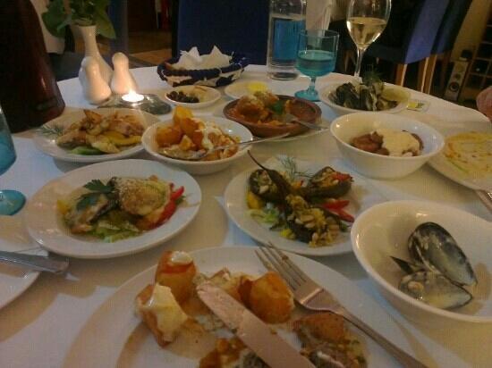 Mediterranean: a selection of amazing tapas.