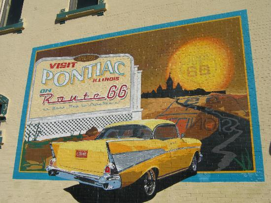 IL Route 66 Association Hall of Fame & Museum: Pontiac Mural