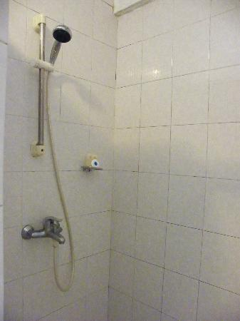 Le Grand Bleu Hotel: shower ...