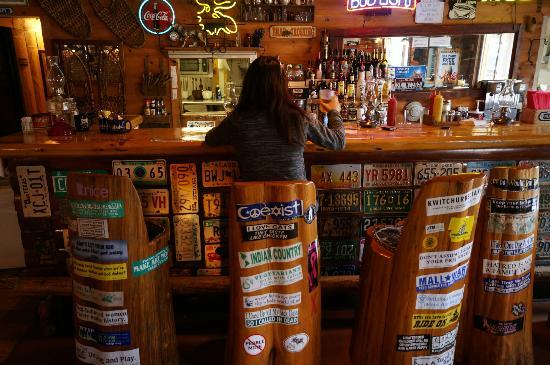 Trail Center Lodge : Our spots at the bar