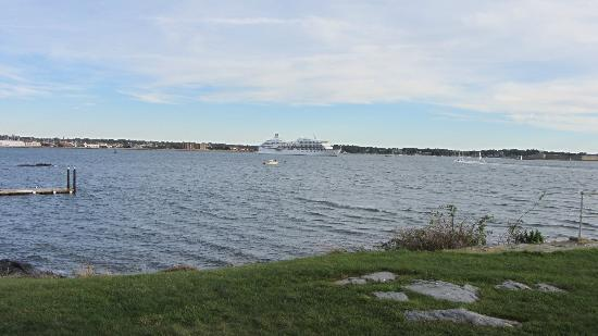 Rose Island Lighthouse: View toward Newport