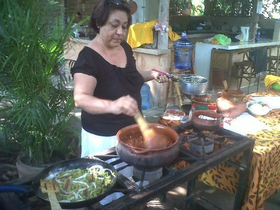 Patio Mexica: in Monica's outdoor kitchen