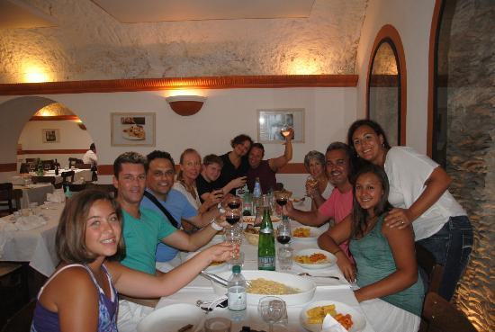 Eating Italy Food Tours: our group lunch what an amazing group
