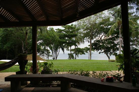 Bahia Pez Vela Resort: View from the lanai-nothing like listening to the waves and the howler monkeys with a cup of cof
