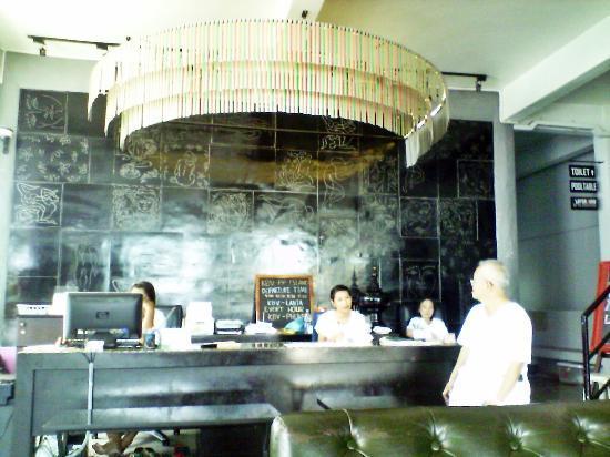 Pak-Up Hostel: Reception area