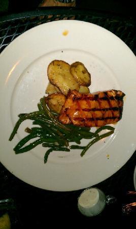 Blue Marlin: Teriyaki Glazed Salmon w/Yukon Potatoes & Sauteed Green Beans