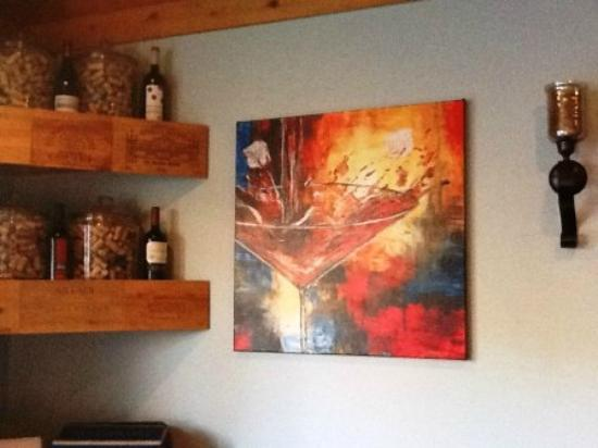 Channel Wine Bar: Artwork done by their friend