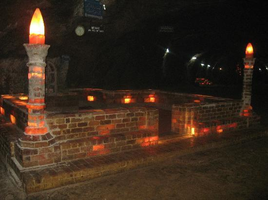Mosque made of Salt Bricks inside one of the Largest Salt Mines, Khewara, Pakistan