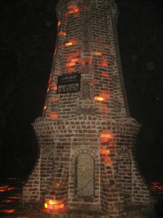Monument made of salt bricks inside one of the Largest Salt Mines, Khewara, Pakistan
