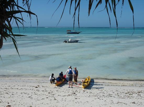 Mnarani Beach Cottages: kayaked