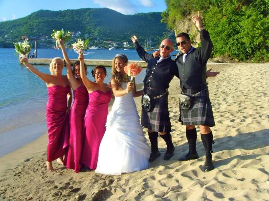 Spring House Bequia: The wedding party