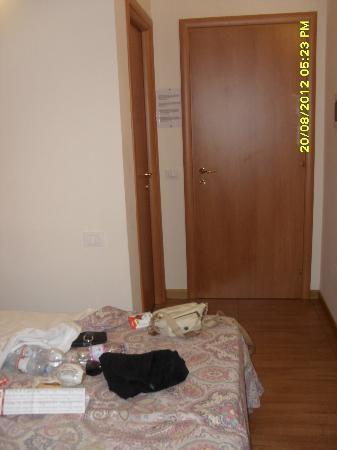 Bon Ton Suite: The room door and the bathroom door