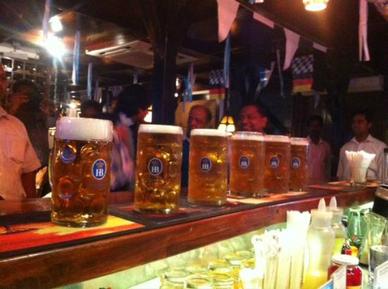 The Bavarian German Restaurant and Pub: 1 ltr Beers