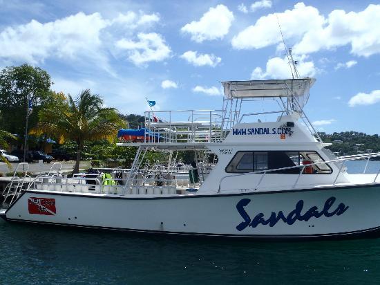 Dive Center at Sandals Halycon Beach : The Halcyon / La Toc dive centre and boats