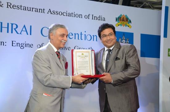 "Fortune Select Excalibur: FHRAI Award ""Environment Champion of the Year 2011-12"""
