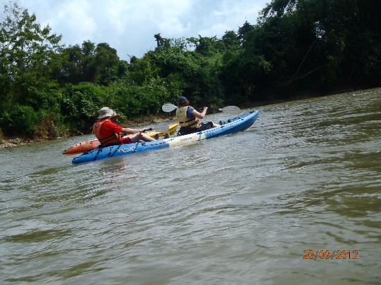 VLT Natural Tours: Kayaking down the river.
