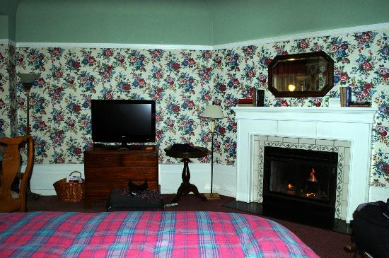 White Swan Inn: Fireplace